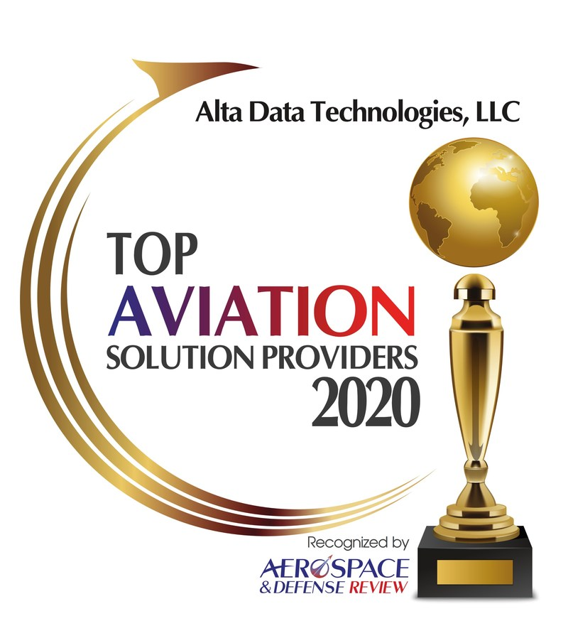 Alta Data Technologies Recognized as a Top 10 Aviation Solution Supplier